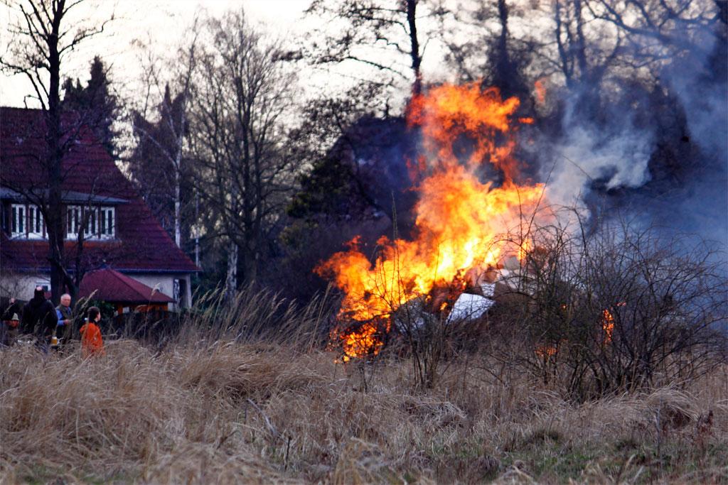 Osterfeuer in Kirchwerder